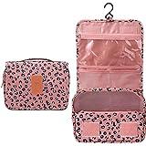 حقيبة أدوات الزينة المحمولة متعددة الوظائف من L&FY حقيبة أدوات الزينة حقيبة مستلزمات المرحاض منظم الغسيل, , Pink Leopard Prin