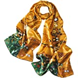prettystern sciarpa di seta di Dipinto Gustav Klimt Stile Foulard Raso di Seta