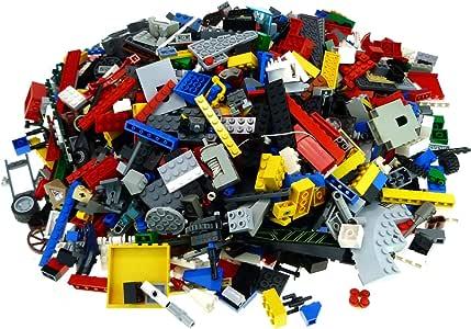 2 Kg Lego Steine ca. 1500 Teile bunt gemischt z.B. Räder