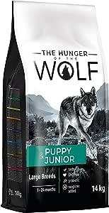 The Hunger of The Wolf Cibo secco per cuccioli e cani giovani di taglia grande e gigante, alto contenuto di pollame, 14 kg