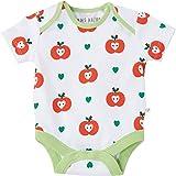 Baby Body Kurzarm 100% Bio-Baumwolle (kbA) GOTS zertifiziert, Apfel, 50/56