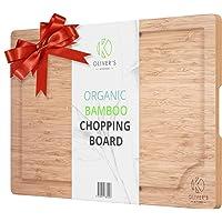 Tagliere in Bamb ugrave  Premium 100  Bio Oliver  39 s Kitchen  39 s  ndash  Tagliere Extra Large in Legno  ndash  Resistente e Forte  ndash  Facile da Pulire con Solco per Sgocciolare