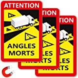Targhette magnetiche | Segnali di avvertimento Angles Morts per Francia | Adesivo LKW con angoli morti | 250 x 170 mm…