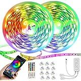 Ruban LED,Bande LED 30M 5050 RGB 540 LEDs,Kit de Bande LED Multicolore avec Télécommande IR, Contrôlé par APP du Smartphone B