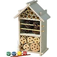 Luxus-Insektenhotels Hochwertiger Insektenhaus-Bausatz, praktisches Dübel-Stecksystem inkl. Holzleim