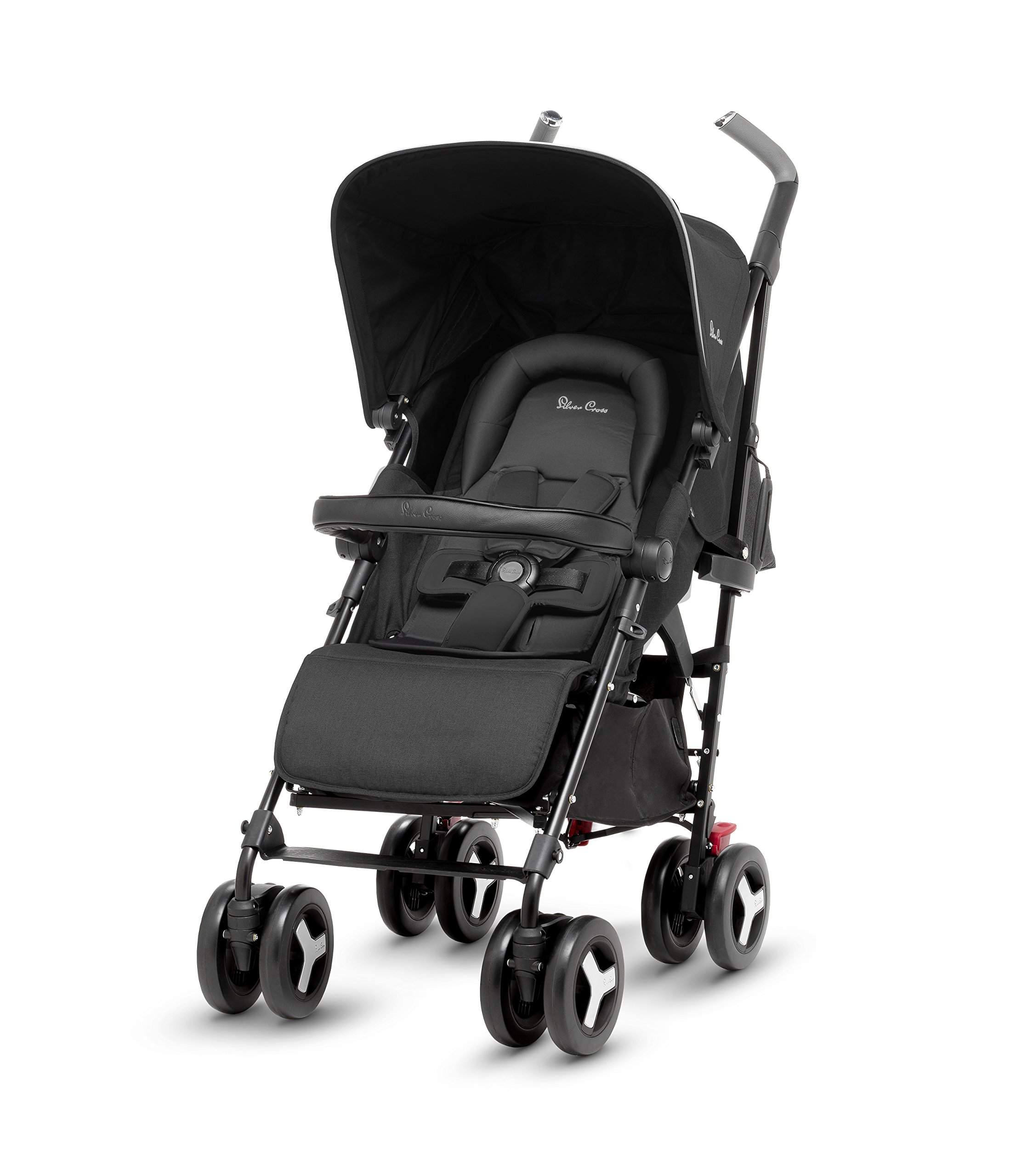 Silver Cross Reflex Stroller, Onyx Silver Cross Reflex is an advanced stroller, suitable from birth up to 25kg, with a wealth of features 5-point Harness Combine with Silver Cross Simplicity Car Seat to create a convenient Travel System 4