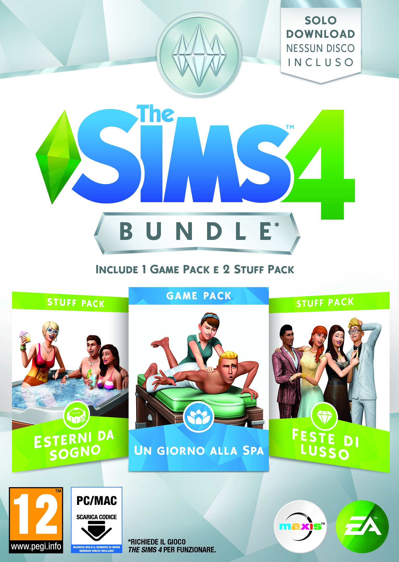 the sims game and stuff pack 2
