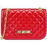 Love Moschino Borsa Quilted Nappa PU, bolso bandolera para Mujer, Impresión, 19x6x28 centimeters (W x H x L)
