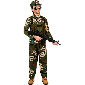 Costume militare bambino 10 12 anni (140 152)  Amazon.it  Giochi e ... 82467e6a011e