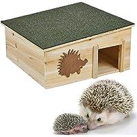 Unibos Wooden Hedgehog House Detachable Rainproof Bitumen Roof Hibernation Nesting Box