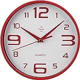 Design moderne de cuisine horloge murale radiocontrol/ée pilot/ée d/écoration silencieux lKU-rouge