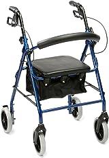 Drive Medical R8BL-23 Rollator aus Aluminium, mit Polstersitz, Blau