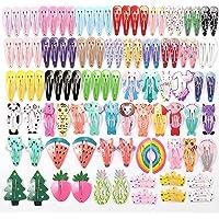 HOOMBOOM Mollette per Capelli Cartone Animato Carino, Set da 100 Mollette per Capelli Bambina Fermagli Capelli in…