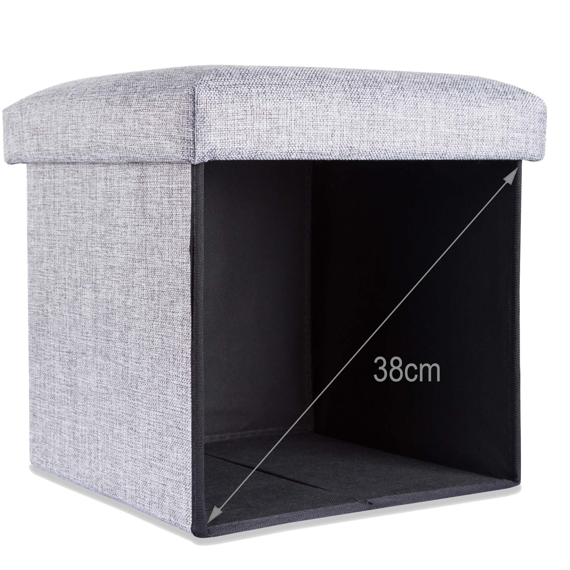 Eitelkeit Ordnungsbox Mit Deckel Das Beste Von Intirilife – Sitzhocker Aufbewahrungs-box