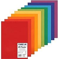 Canson Papier MI-Teintes (Nid-d'abeilles) - Paquet de 10 Feuilles A3 160g/m² Couleurs Vives