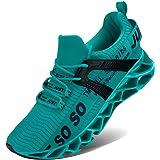 Lingmu Zapatillas de tenis para caminar para hombre - Zapatillas deportivas de peso informal para correr [Antideslizantes]