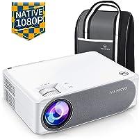 Videoprojecteur, VANKYO 6800 Lumens Projecteur 1920x1080P Full HD Mini Retroprojecteur ±50° 4D Correction Trapèze Compatible HDMI VGA AV USB pour Présentation PPT Home Cinéma