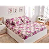 Utopia Textile Bed Sheet Set, 5 Pieces - Pink and Purple