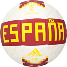 adidas World Cup Soccer Official Licensed Product Spain Ball, Size 5, White/Red/Bold Gold