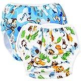 SINSEN Pannolini da Nuoto (Confezione da 2), Costume Neonato, Costume Contenitivo Neonato, Pannolini Lavabili, Pannolini Lava
