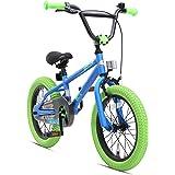 "BIKESTAR Bicicleta Infantil para niños y niñas a Partir de 4 años | Bici 16 Pulgadas con Frenos | 16"" Edición BMX"