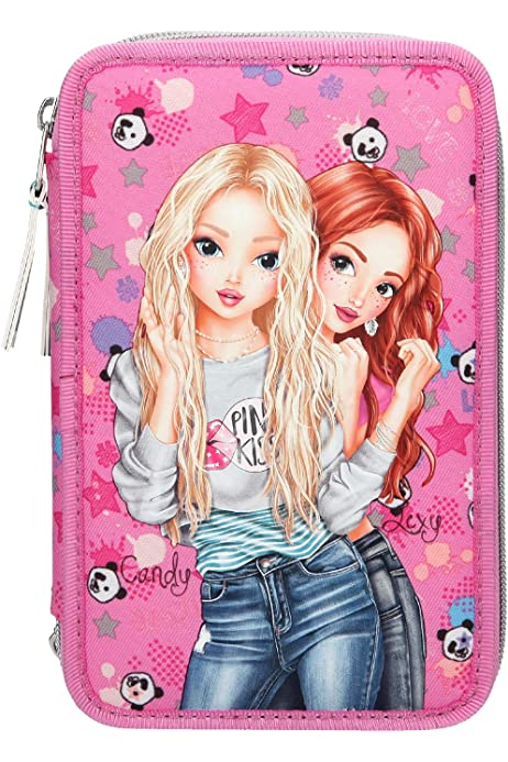 Top Model Carretilla Verano Panda, Mochila Tipo Casual, 40 cm, 22 Liters, Rosa Fucsia: Amazon.es: Equipaje