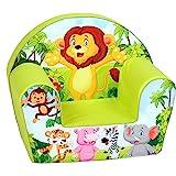 Delsit Fauteuil pour Enfant « Zoo », Mousse, Vert, 52x34x43 cm (1er Pack)