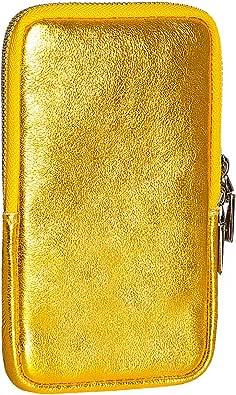 SKUTARI® LEDER CELLULARE Brillante Damen Handytasche   aus hochwertigem Echt-Leder   Geldtasche, Geldbörse  Handytasche   Handy Mini-Tasche  ital. Damen Schultertasche   MADE IN ITALY