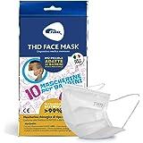 THD Mascherina per Bambini, Made in Italy, Certificata CE, Inodore e Priva di Contaminanti, Triplo Strato Filtrante >99%, Alt