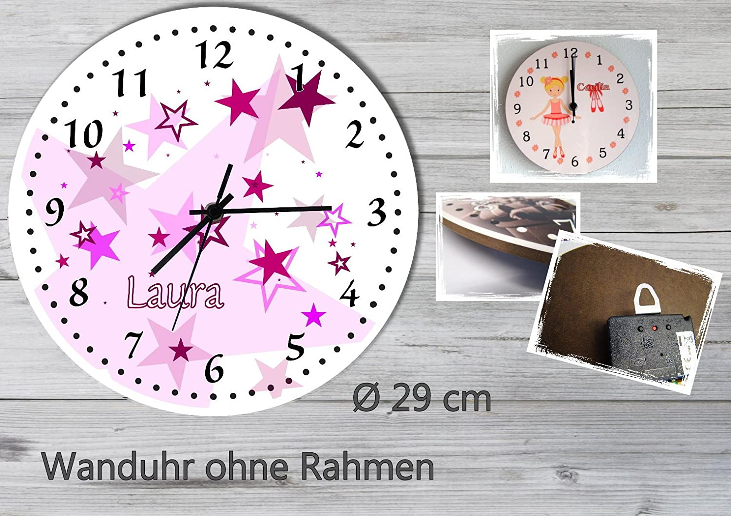 wanduhr kinderzimmer gr n bibkunstschuur. Black Bedroom Furniture Sets. Home Design Ideas