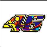 Pegatina Adhesivo Valentino Rossi 46 Reflectante 15,2 cm x 6,3 cm 1 Unidad
