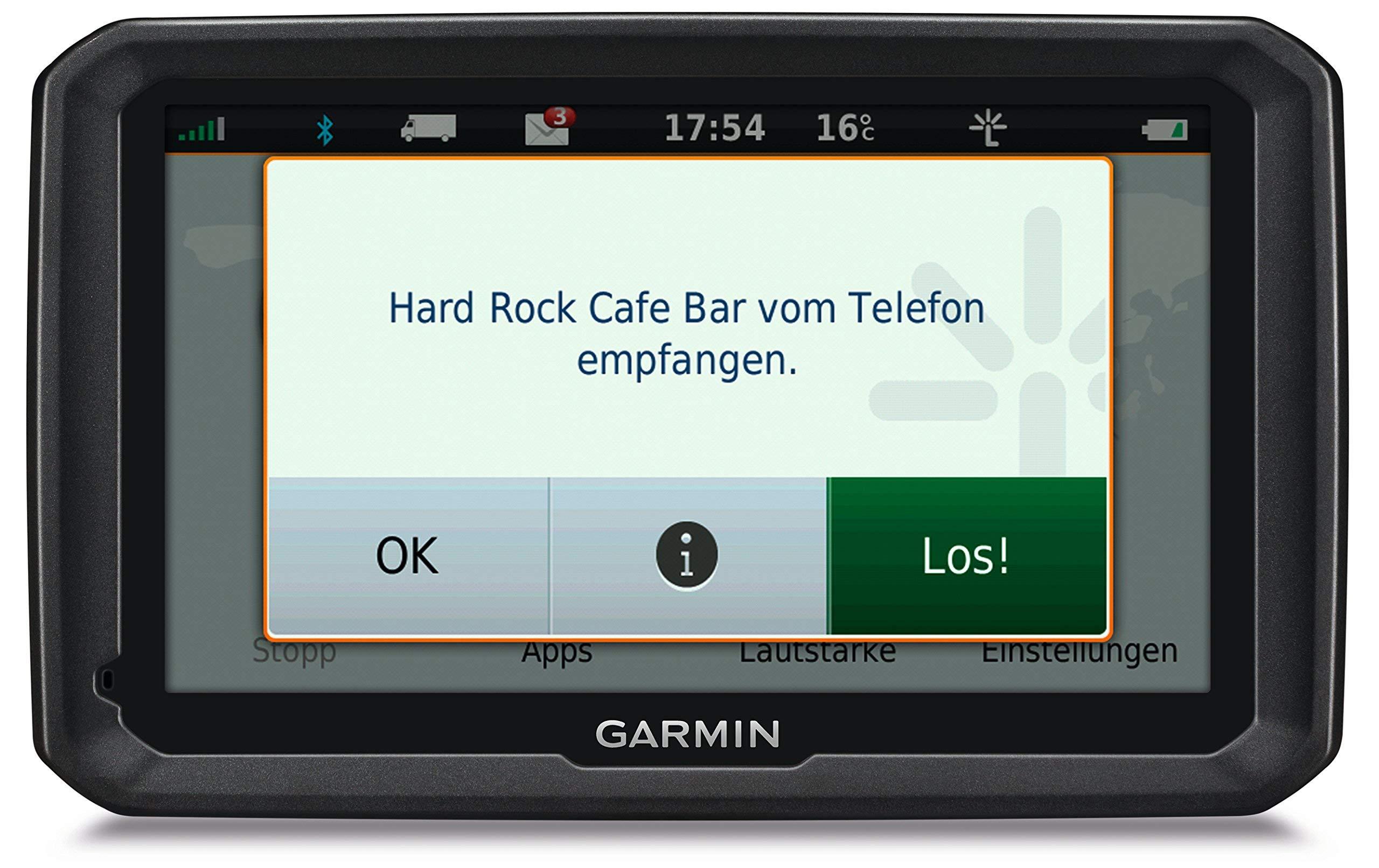 Garmin-dezl-LMT-D-LKW-Navigationsgert-lebenslange-Kartenupdates-DAB-LKW-spezifisches-Routing-Touch-Glasdisplay-Zertifiziert-und-Generalberholt