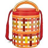 Milton Microwow Pro Plastic Tiffin Box Set, 240ml, Set of 2, Orange