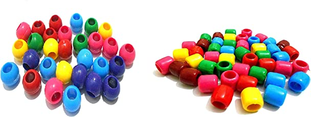 Plastic multicolor beads round & tube beads 12mm for jewellery making/ craftworks