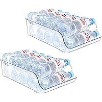Puricon Frigo 2 Pièces pour Bouteille d'Eau, Boisson, Soda, Bière, Organisateur de Réfrigérateur, Peut Mettre 9×500ml…