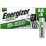 Energizer 7638900000000 Power Plus Aa Batteri, Paket med 8, Svart