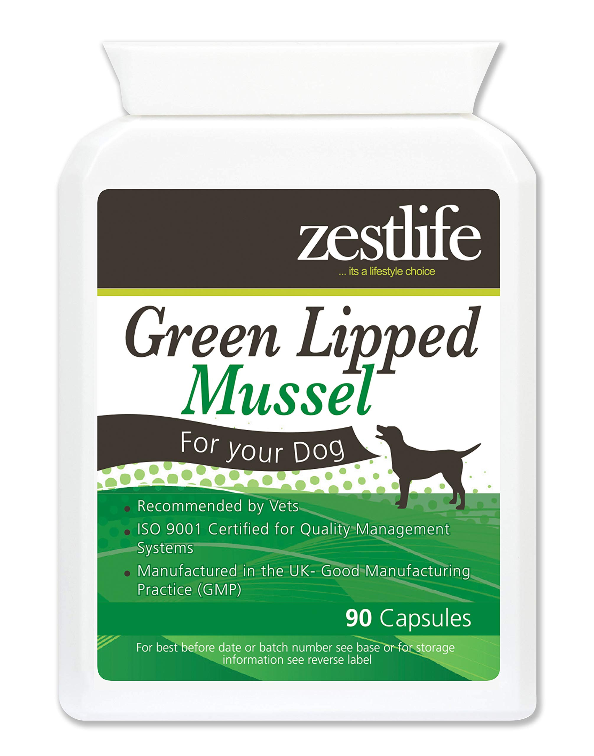 Zestlife Green Lipped Mussel for Dogs High Strength 90 capsules