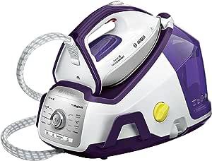 Bosch Electroménager TDS8080 Centrale Vapeur illimitée cuve haute pression, 2400 W, Blanc/Violet Foncé