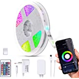 B.K.Licht I Smart LED Stripe 3 Meter I WiFi LED Band I App bestuurbaar I Voice control I Incl. afstandsbediening I Silicone g
