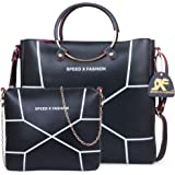 Speed X Fashion Women's Handbag With Sling Bag (Set of 2) (LWH00STY_Black)