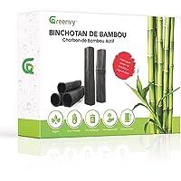 Greenvy™ | Filtre à Eau zéro déchet au Charbon Actif de Bambou Bio x5 - Binchotan purificateur d'eau du Robinet en…