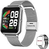 Orologio Smartwatch Donna Uomo, HopoFit Smart Watch con Cardiofrequenzimetro da Polso Contapassi Cronometro 1,4 Pollici Imper
