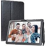 """Labanema Tablet Coque avec MatrixPad Z4, Slim Fit Cuir PU étui Housse Fin et Pliable Coque pour 10.1"""" Vankyo MatrixPad Z4 10 inch/MatrixPad Z4 Pro Tablette - Noir"""