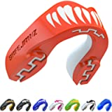 SAFEJAWZ Mouthguard Slim Fit, Adults and Junior Gum Shield with Case for Boxing, MMA, Rugby, Martial Arts, Judo, Karate…