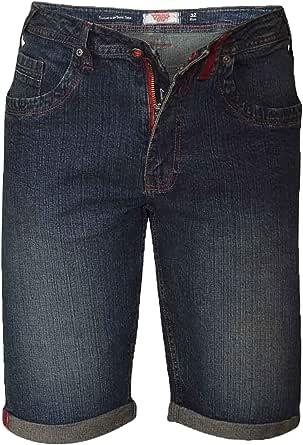 D555 Mens Denim Shorts Duke Big King Size Knee Length Roll Up Vintage Summer