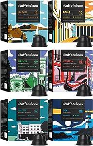 Il Caffè Italiano - Nescafè Dolce Gusto 96 Capsule compatibili - Kit Degustazione Tour d'Italia con varie intensità - Frhome