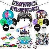 veeyiki Kit di Forniture per Feste di Compleanno per Gli Appassionati di Giochi 123 Pezzi Decorativi per Party A Tema…