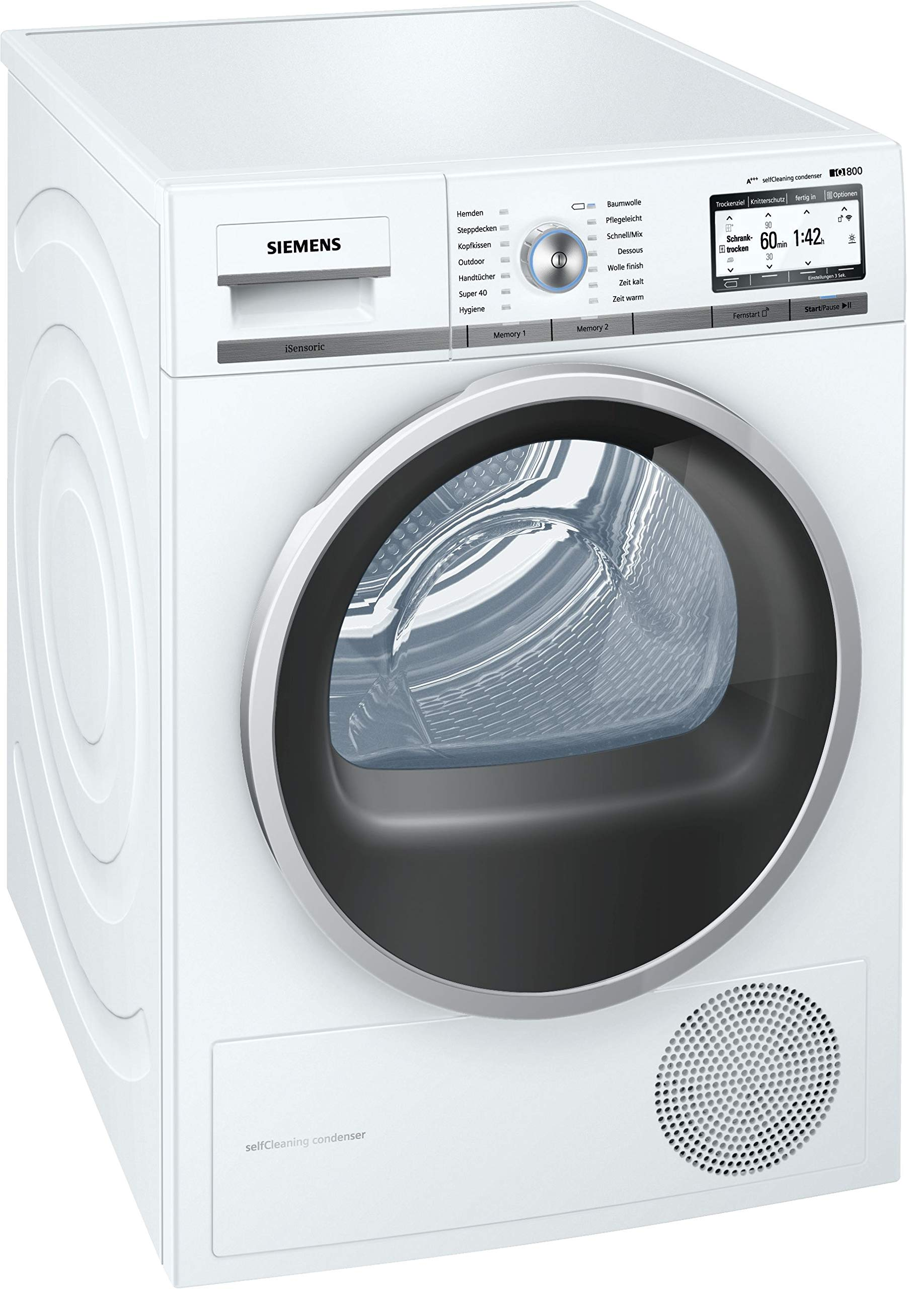 Siemens WT7YH701 iQ800 Home Connect Wärmepumpentrockner, 8 kg, weiß