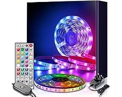 LED Strip Lights, Mexllex 6M LED Light Strip with Remote Colour Changing SMD 5050 LED Lights for Home TV Kitchen Party Christ