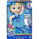 Baby Alive Shimmer 'n Splash Mermaid Blonde Hair, Toy Doll for 3 Year Old and Up